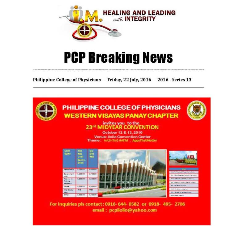 13th PCP Breaking News 23rd Midyr Convention Page 1