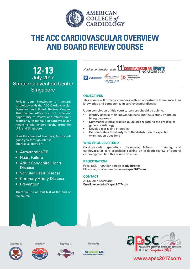The ACC Cardiovascular Overview and Board Review Course